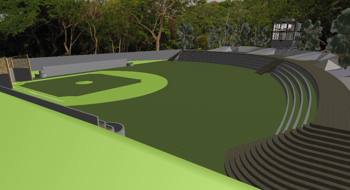 La Selva softball and amphitheater view building in progress