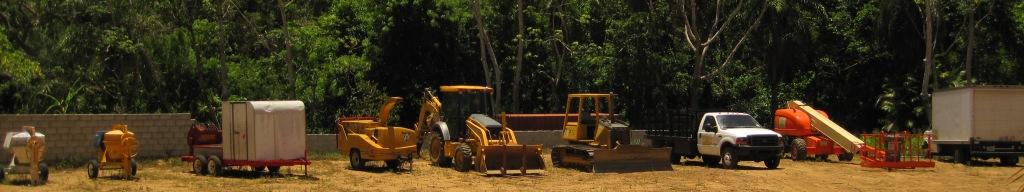 La Selva Eco Resort Construction Fleet of heavy equipment