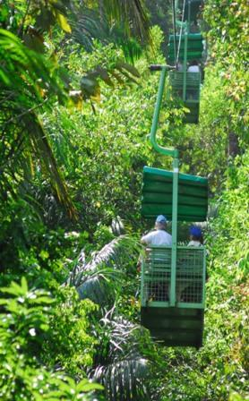 la selva chair lift on roatan
